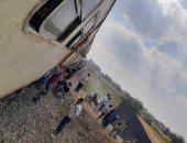 اصطدام قطار المنصورة المطرية بمقطورة جرار زراعى بالدقهلية بدون إصابات