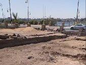 """مفاجأة فى أعمال الحفر بموقع قصر أندراوس بمعبد الأقصر """"فيديو"""""""