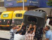 حملات لمنع سير التوك توك والتروسيكل بالمحاور الرئيسية وكورنيش الإسكندرية.. صور