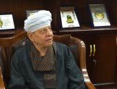 الشيخ ياسين التهامى يصل جامعة طنطا لافتتاح معرض سبحة صوفية