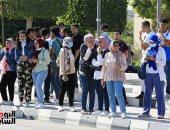 جامعة حلوان تستقبل الطلاب القدامى والجدد في أول أيام الدارسة