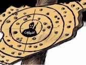 كاريكاتير اليوم.. الخريطة السورية منصة للضربات العسكرية والقتال