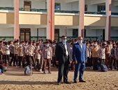 رئيس مدينة الجمالية يتفقد المدارس فى أول يوم دراسى بالدقهلية.. صور