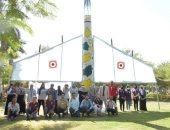 جوالة جامعة المنصورة تحتفى بالطلاب بمجسمات طائرات مع بدء الدراسة.. فيديو
