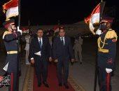 مراسم استقبال رسمية.. رئيس مجلس الوزراء يستقبل نظيره اليمنى