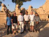 السفير الأمريكى يزور معابد الكرنك فى زيارة سياحية لمحافظة الأقصر