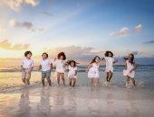 """""""كلنا مختلفون"""".. جلسة تصوير على البحر للأطفال لتقبل الآخر ومحاربة التنمر"""