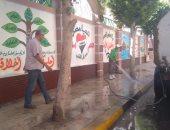 محافظ الإسكندرية يشدد على نظافة وتطهير ورفع المخلفات حول المدارس