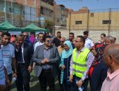 """نائب محافظ بنى سويف يتابع مشروعات """"حياة كريمة"""" بقرية بهبشين"""