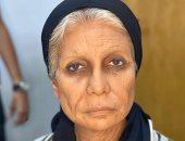 سوسن بدر تظهر بشكل مختلف في كواليس تصوير مسلسلها السيدة زينب.. صورة