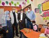 محافظ الغربية يشهد طابور الصباح بمدرسة الحسينى محمد عجاج بعد تطويرها ضمن حياة كريمة