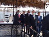 وزير الرى يصل القناطر الخيرية لعقد مؤتمر إدارة الموارد المائية بمصر..لايف وصور