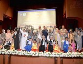 """جامعة المنصورة تنظم احتفالا بذكرى نصر أكتوبر تحت شعار """"حياة كريمة"""".. صور وفيديو"""