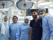 شاهد.. نجاح أول زراعة صمام رئوى لطفل بدون تدخل جراحى بمستشفى أبو الريش
