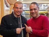 """عمرو دياب وأمير محروس أشغال شاقة للانتهاء من ألبوم """"عيشنى"""".. صورة"""