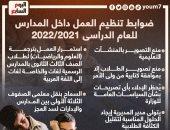 ضوابط تنظيم العمل داخل المدارس للعام الدراسى 2021/2022.. إنفوجراف