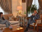 أمين عام جامعة الدول العربية يلتقى المنسقة الأممية من أجل التنمية فى مصر
