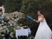 كرة بيسبول تعكر صفو حفل زفاف بانجلترا.. تعرف على التفاصيل.. فيديو