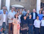 جولة دبلوماسية أوروبية داخل مسجد الماريدانى بالدرب الأحمر بعد ترميمه بـ1.2 مليون يورو.. صور