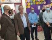 مدير تعليم القليوبية يتفقد المدرسة المصرية اليابانية ببنها لمتابعة الدراسة