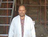 شاهد ترميمات أعمدة معبد خنوم بإسنا من ارتفاع 13 مترا وإظهار الألوان على الأعمدة والجدران