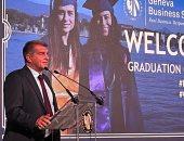رئيس برشلونة يشهد حفل تخرج طلاب مصريين بجامعة جينفا الإسبانية.. صور