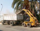 رفع 300 طن تراكمات ومصادرة 83 حالة إشغال فى حملات بأسوان