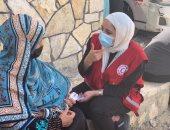 قافلة الهلال الأحمر الطبية تواصل تقديم خدماتها الطبية لأهالى شمال سيناء