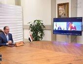 الرئيس السيسي يتلقى اتصالا من ميركل لبحث مستجدات الأزمة الليبية وسد النهضة