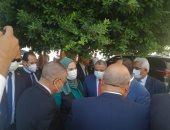 """وزيرة التضامن تطلق فعاليات حملة """"بالوعى مصر بتتغير للأفضل"""" فى المنيا.. فيديو"""