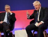 بوريس جونسون وبيل جيتس يعلنان عن شراكة لإطلاق ثورة صناعية خضراء فى بريطانيا