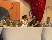 """أبطال """"قمر 14"""" يعتذرون عن تأخر حضورهم المؤتمر الصحفى عن الفيلم بمهرجان الجونة.. فيديو"""