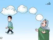 دعوات الأمهات حصن أمان للأبناء في كاريكاتير اليوم السابع