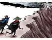 """كاريكاتير اليوم.. الصين وأمريكا على حافة """"الحرب الباردة"""""""