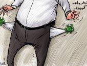 كاريكاتير صحيفة إماراتية يسلط الضوء على تأثير كورونا على المواطن