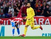 """ليفربول يتغنى بمحمد صلاح بعد ثنائية أتلتيكو مدريد: """"بص بعينه ومرحمش بقلبه"""""""