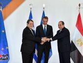 الرئيس السيسى يشيد بتوقيع الاتفاق الثلاثى فى الربط الكهربائى مع قبرص واليونان