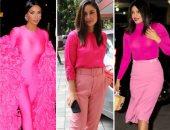 من كيم كاردشيان لبريانكا شوبرا.. البسى المونوكروم الوردي على طريقة المشاهير