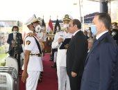 الرئيس السيسى يكرم أوائل كلية الشرطة دفعة 2021 خلال حفل تخرجهم