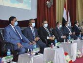 رئيس جامعة كفر الشيخ يشهد حفل استقبال الطلاب الجدد بكليتى التربية والحاسبات
