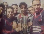هاني رمزي يستعيد ذكريات المنتخب بصورة مع حازم إمام بجانب كأس افريقيا 1998