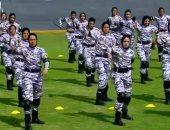 خريجات كلية الشرطة يشاركن فى عروض حفل التخرج أمام الرئيس السيسى