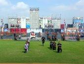 طلاب أكاديمية الشرطة يجتازون الحواجز النارية فى حضور الرئيس السيسى
