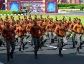 الرئيس السيسى يشاهد عرضا لقوات التدخل السريع خلال حفل تخرج كلية الشرطة