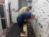 فتح دورات المياه فى المساجد بعد غلقها منذ بداية أزمة كورونا.. صور