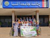 """قافلة طبية جديدة لجامعة المنيا متعددة التخصصات بقرية """"جزيرة شيبة"""" بأبوقرقاص"""