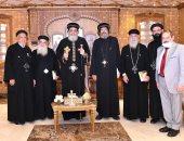 البابا تواضروس الثانى يستقبل أسقف كنائس قطاع شبرا الشمالية