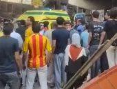 فيديو يظهر حادث تهشم سيارة بعد سقوطها من أعلى محور صفط اللبن