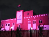 """""""القومى للمرأة"""" يضىء مبناه باللون الوردى احتفالا بشهر التوعية بسرطان الثدى"""