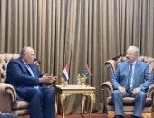 وزير الخارجية يؤكد للمشير حفتر دعم مصر الكامل لجهود تحقيق أمن واستقرار ليبيا